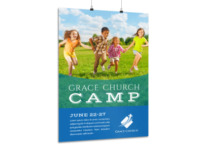 Classic Church Camp Poster Template