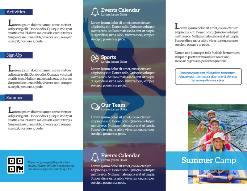 Youth Church Camp Tri-Fold Brochure Template Preview 3