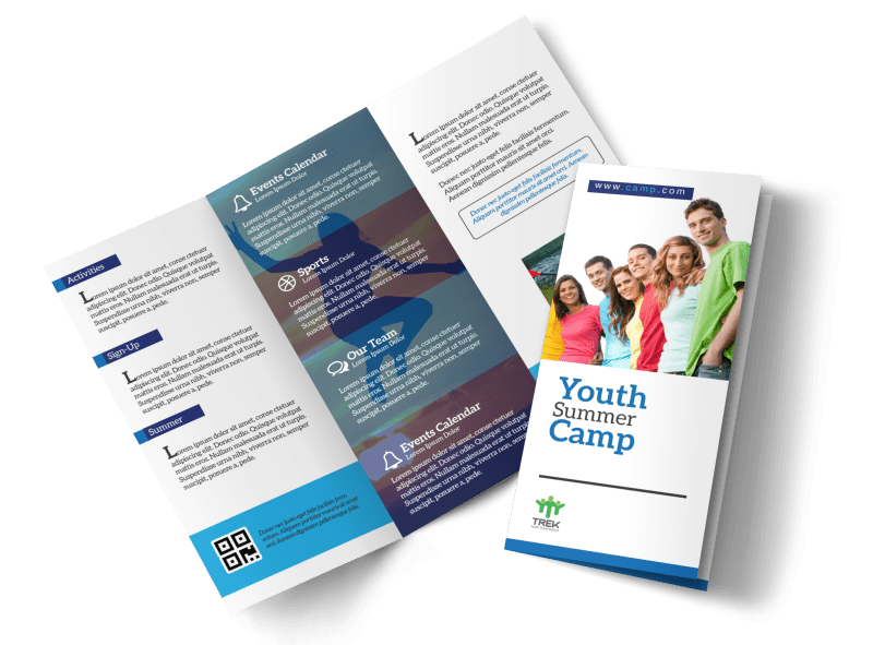 Youth Church Camp Tri-Fold Brochure Template Preview 1