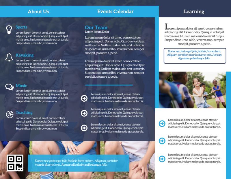 Church Summer Camp Tri-Fold Brochure Template Preview 3