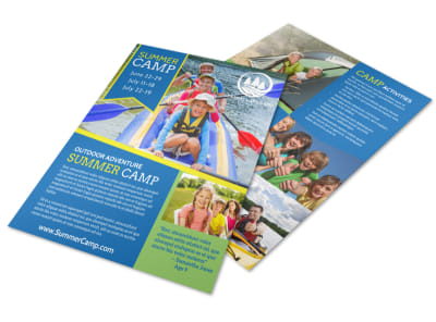 Adventure Summer Camp Flyer Template preview