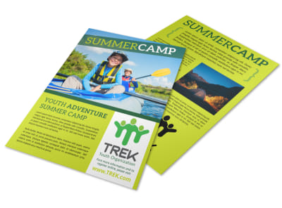 Green Summer Camp Flyer Template preview