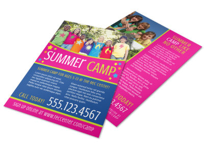 Summer Camp Sign Up Flyer Template preview
