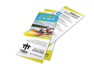 Simple Summer Camp Flyer Template