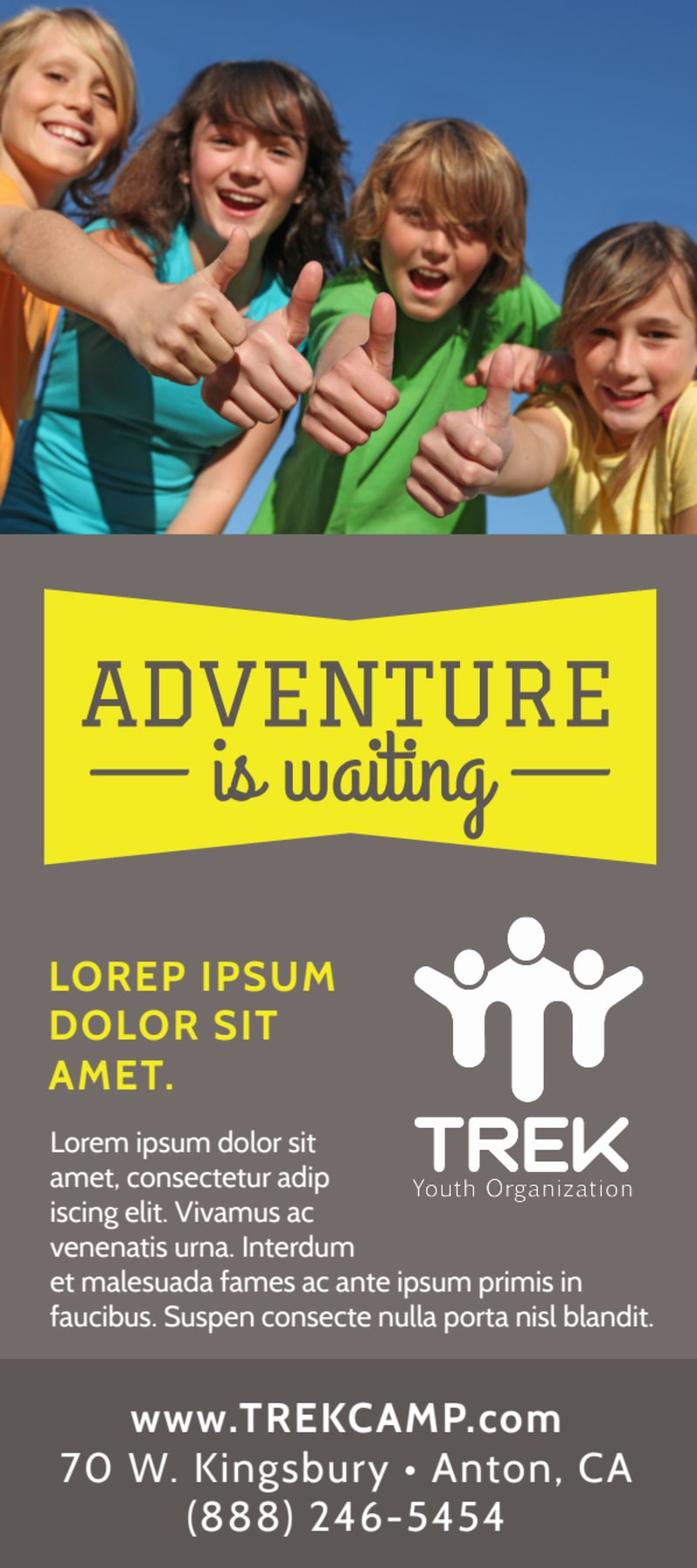 Adventure Camp Flyer Template Preview 3