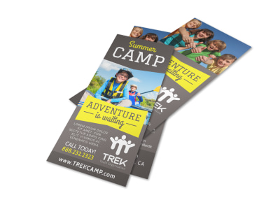 Adventure Camp Flyer Template preview