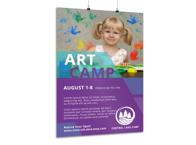 Summer Art Camp Poster Template preview
