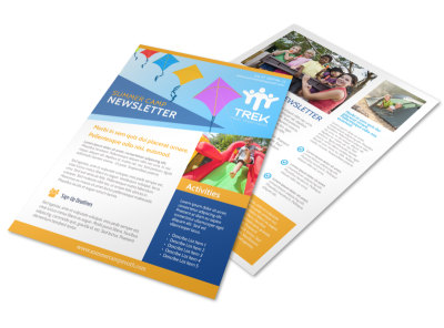 Fun Summer Camp Newsletter Template preview