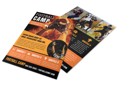 Sports Camp Football Flyer Template preview
