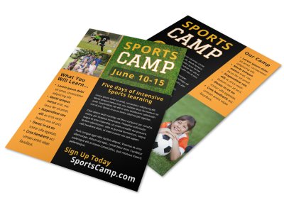 Sports Camp Info Flyer Template preview