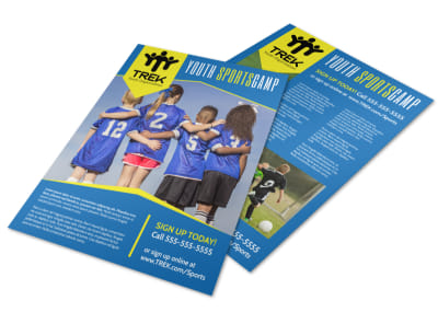 Youth Sports Camp Flyer Template preview