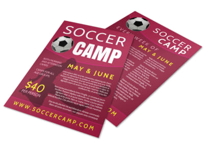 Awesome Soccer Camp Flyer Template preview