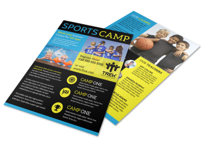 Kids Sports Camp Flyer Template preview