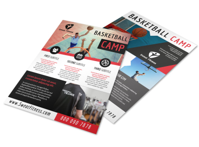 Sports Camp Basketball Flyer Template preview