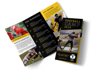 Football Camp Tri-Fold Brochure Template preview