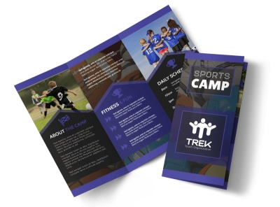 Sports Camp Tri-Fold Brochure Template preview
