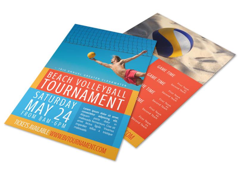 Beach Volleyball Tournament Flyer Template