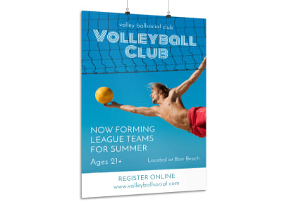 Volleyball Club Poster Template preview