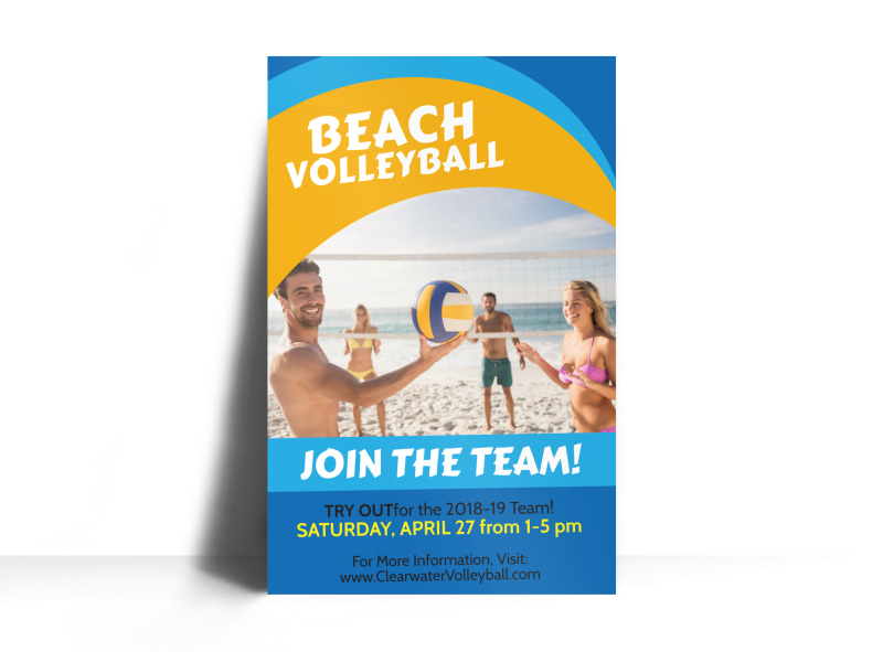 Beach Volleyball Poster Template