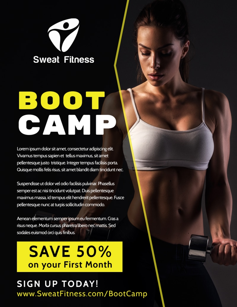 Boot Camp Flyer Template Preview 2