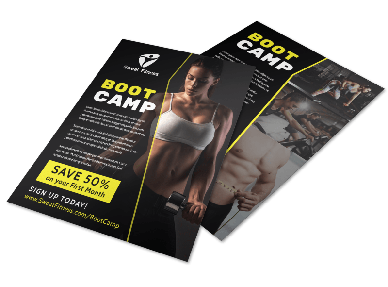 Boot Camp Flyer Template Preview 1