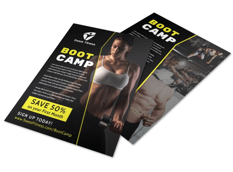 Boot Camp Flyer Template Preview 4