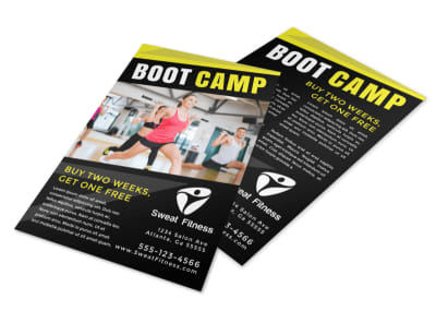 Fitness Boot Camp Promo Flyer Template preview