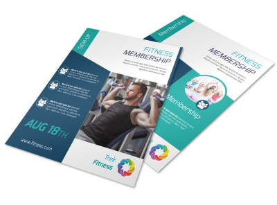 Fitness Membership Flyer Template preview