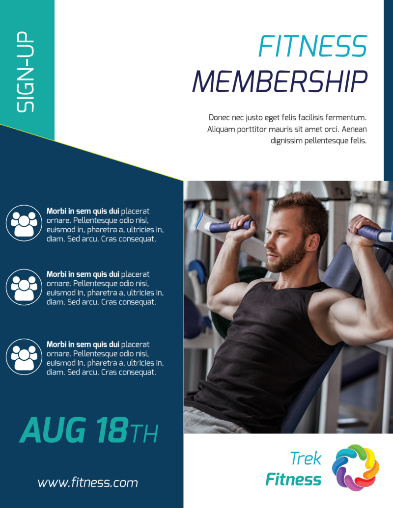 Fitness Membership Flyer Template Preview 2