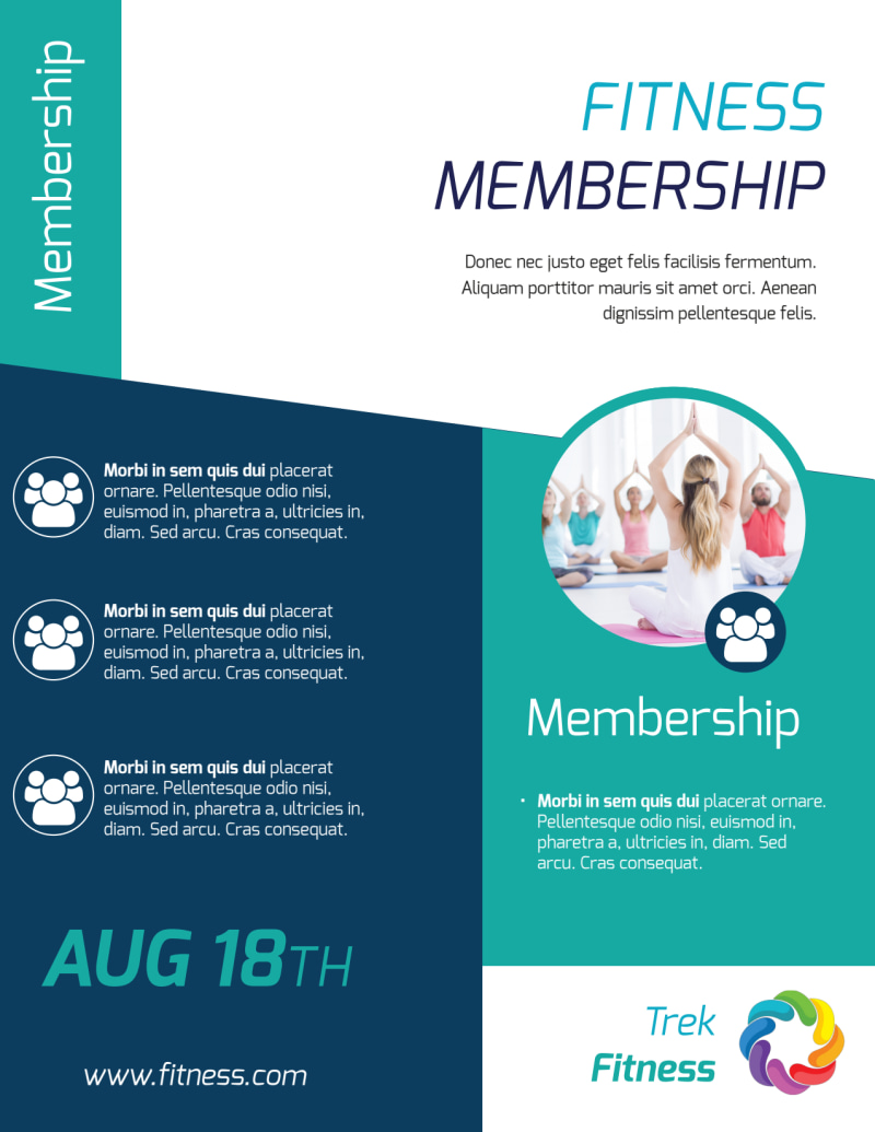 Fitness Membership Flyer Template Preview 3