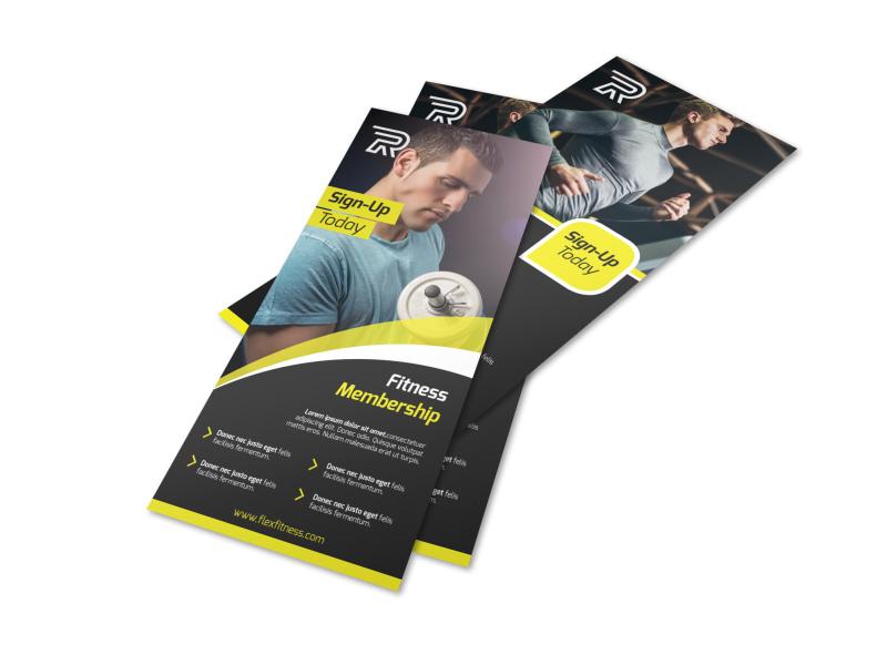Fitness Member Details Flyer Template
