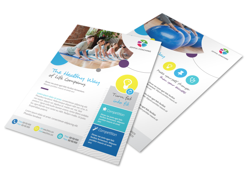 Healthy Fitness Competition Flyer Template