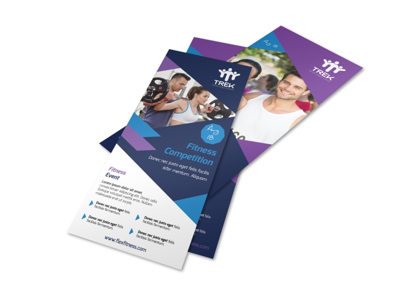 Blue Fitness Competition Flyer Template Mycreativeshop