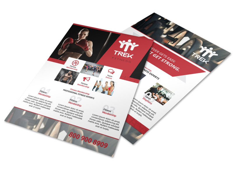 Red Fitness Club Flyer Template
