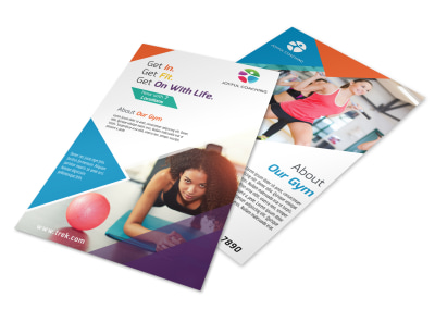 Bright Fitness Club Flyer Template preview