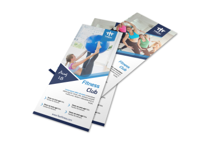 Classy Fitness Club Flyer Template preview