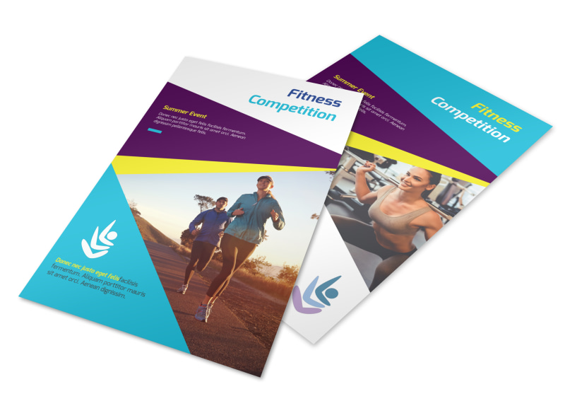 Fitness Event Competition Flyer Template Mycreativeshop