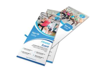 Blue Fitness Flyer Template preview