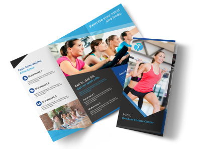 Professional Fitness Tri-Fold Brochure Template preview