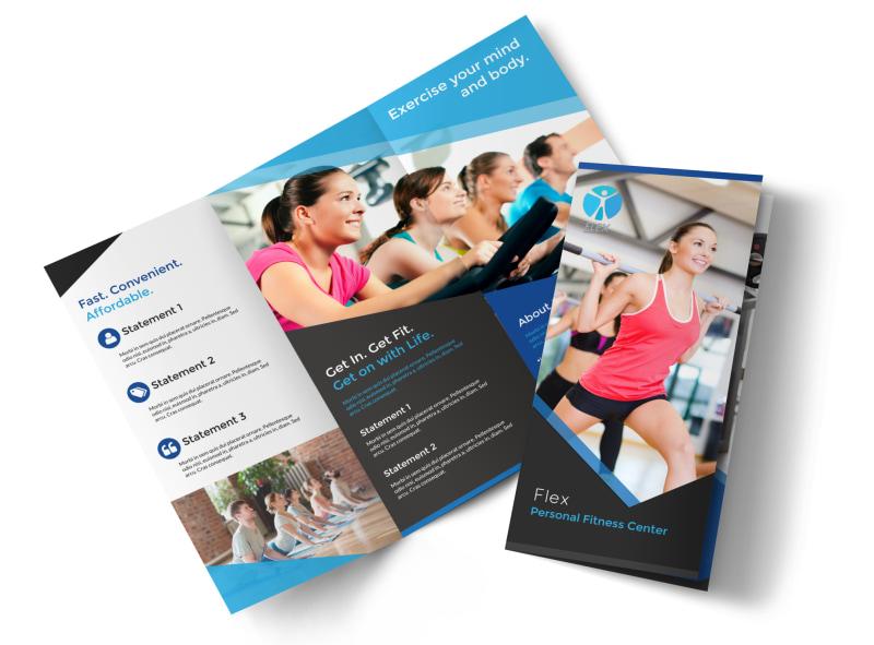 Professional Fitness Tri-Fold Brochure Template
