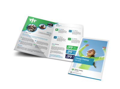 Fitness Pricing Bi-Fold Brochure Template preview