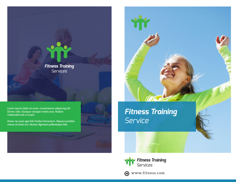 Fitness Pricing Bi-Fold Brochure Template Preview 2