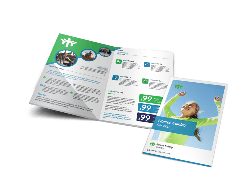 Fitness Pricing Bi-Fold Brochure Template Preview 1