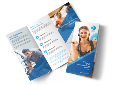 Classic Fitness Tri-Fold Brochure Template preview