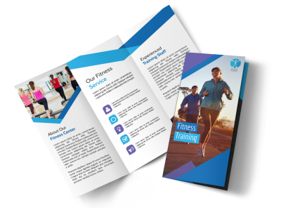 Fitness Training Tri-Fold Brochure Template preview