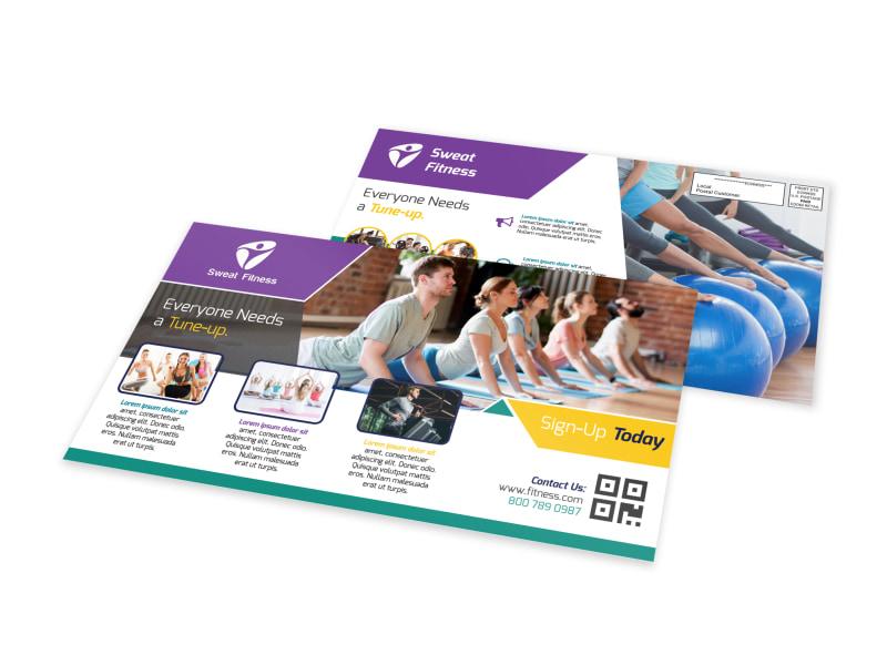Fitness Sign Up EDDM Postcard Template