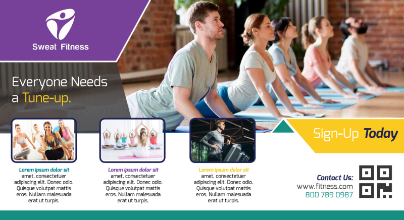 Fitness Sign Up EDDM Postcard Template Preview 2