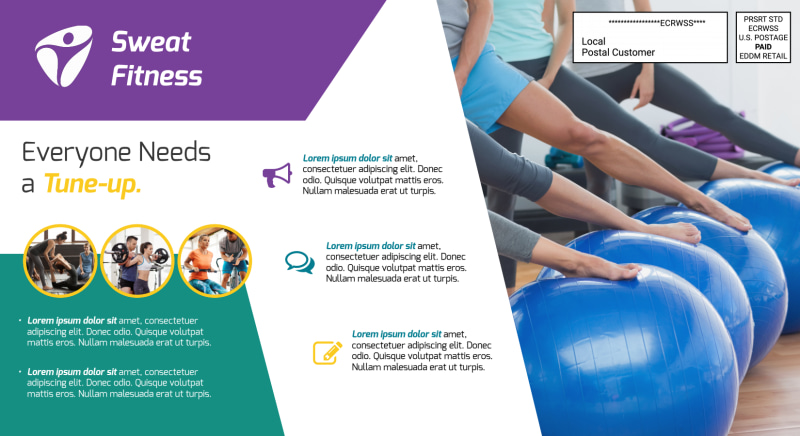 Fitness Sign Up EDDM Postcard Template Preview 3