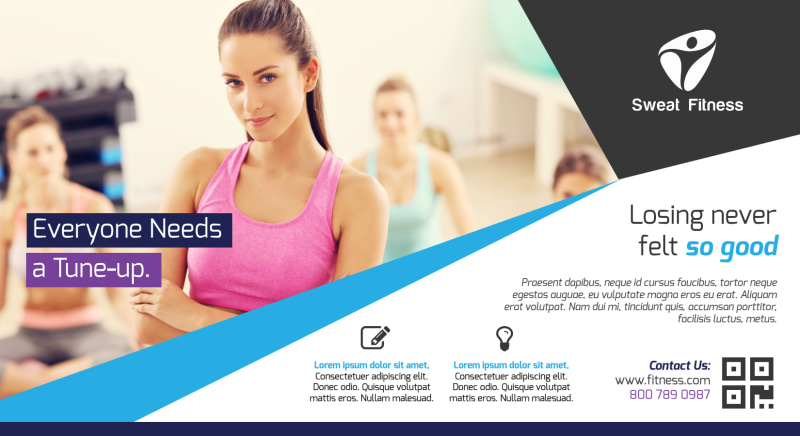 Elite Fitness EDDM Postcard Template Preview 2