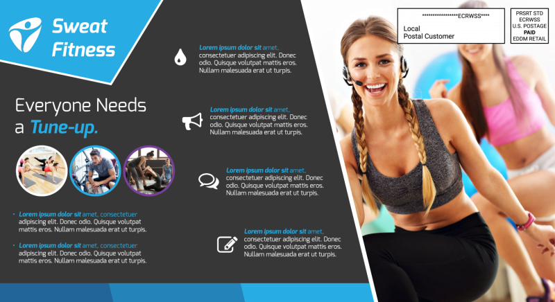 Elite Fitness EDDM Postcard Template Preview 3